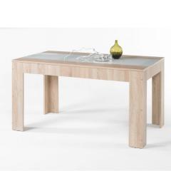 Table à manger Moser 138cm - chêne/verre