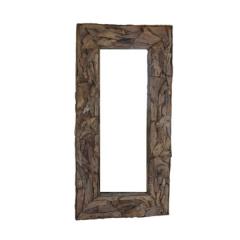 Miroir mural Root 180x90cm - teck/bois de racine