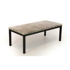 Table basse Ganges 120cm - gris/noir