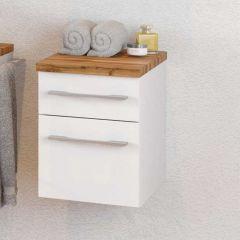 Armoire de salle de bains Dasa 30cm à 2 tiroirs - blanc