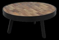 Table basse Montréal - ø70 cm - bois de manguier / fer