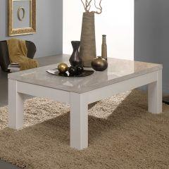 Table basse Roma - blanc/béton