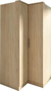 Armoire d'angle Ramos 90cm avec 2 portes - chêne