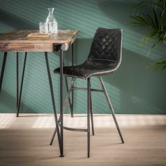 Lot de 2 chaises de bar Jolene - anthracite