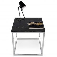 Table d'appoint Prairie - marbre noir/chrome