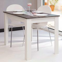 Table à manger Nice - blanc/béton