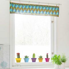 Stickers pour fenêtre Cactus