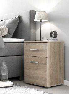 Table de chevet Bedside 1 tiroir & 1 porte - chêne