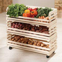 Étagère à fruits et légumes grande - pin