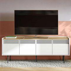 Meuble TV Radio 160cm - chêne/blanc