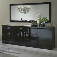 Bahut Roma 3 portes & 3 tiroirs - noir