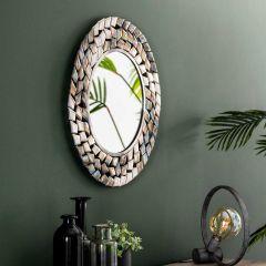 Miroir Fenna Ø65 - nickel antique