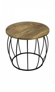 Table d'appoint Crown - naturel / noir