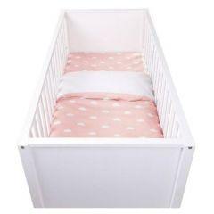 Housse de couette Snoozy Clouds pour lit bébé - rose
