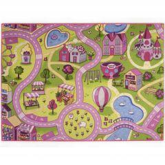 Tapis enfant Sweet Town - 95x133cm