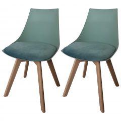 Jeu de 2 chaises Cosmo - vert