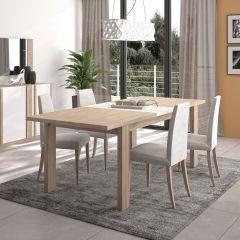 Table à manger extensible Gaston - chêne Kronberg clair/blanc