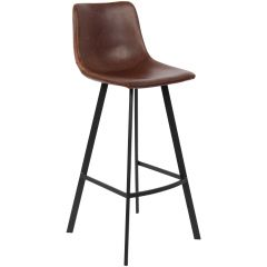 Lot de 2 tabourets de bar Joran - brun