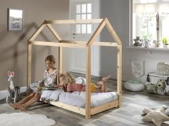 Lit cabane Home 70x140 - naturel