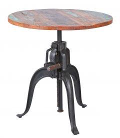 Table de bar Fundos Ø75 réglable en hauteur - brun
