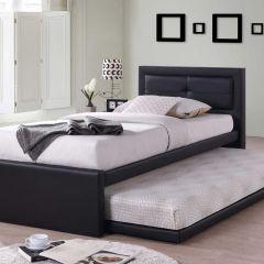 Lit simple Rodan - noir