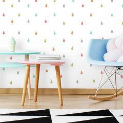 Stickers muraux Pastel Raindrop