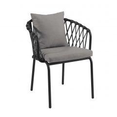 Chaise de jardin Edna - anthracite/gris