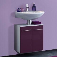 Meuble sous lavabo Small 50cm - violet brillant