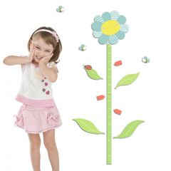 Stickers muraux Smiling Flowers avec toise