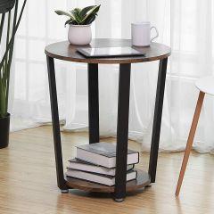 Table d'appoint Firas Ø50 - brun/noir