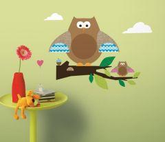 RoomMates stickers muraux - Hibou avec branche