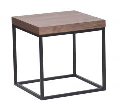 Table d'appoint Pride - noyer/pieds noirs