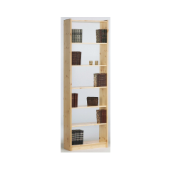 Bibliothèque Olan 65cm avec 5 étagères - nature