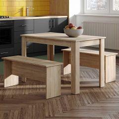 Table à manger Nice avec bancs - chêne