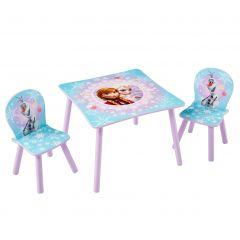 Ensemble table et 2 chaises La Reine des Neiges