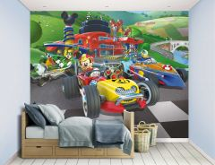 Papier peint Mickey Mouse Roadster Racers