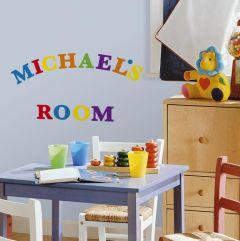 RoomMates stickers muraux - Lettres colorées