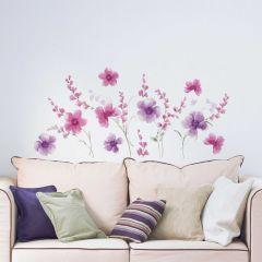 Sticker mural Purple Flowers XL