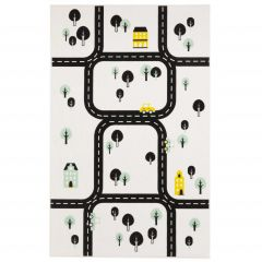 Tapis enfant Ring Road - blanc