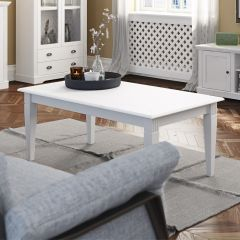 Table basse Verner 130x70 - blanc