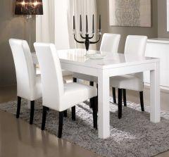 Table à manger Roma 160 cm - blanc