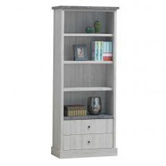 Bibliothèque Hannelore 2 tiroirs - chêne gris