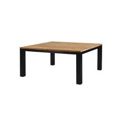 Table de jardin Floriaan 160x160 - brun/noir