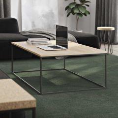 Table basse Gleam 120x75 - chêne/acier