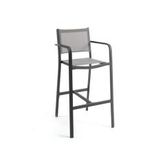 Chaise de bar pour extérieur Murcia - gris foncé