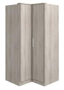 Armoire d'angle Ramos 90cm avec 2 portes - frêne gris