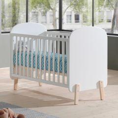 Lit bébé Kiddy 60x120 - blanc