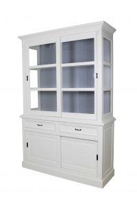 Buffet Provence - 150 cm - blanc / gris