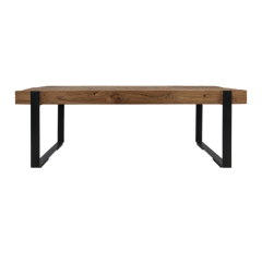 Table basse Norton 130x60 cm - teck/fer recyclé