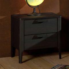Table de chevet Azalea décor frêne - brun/noir